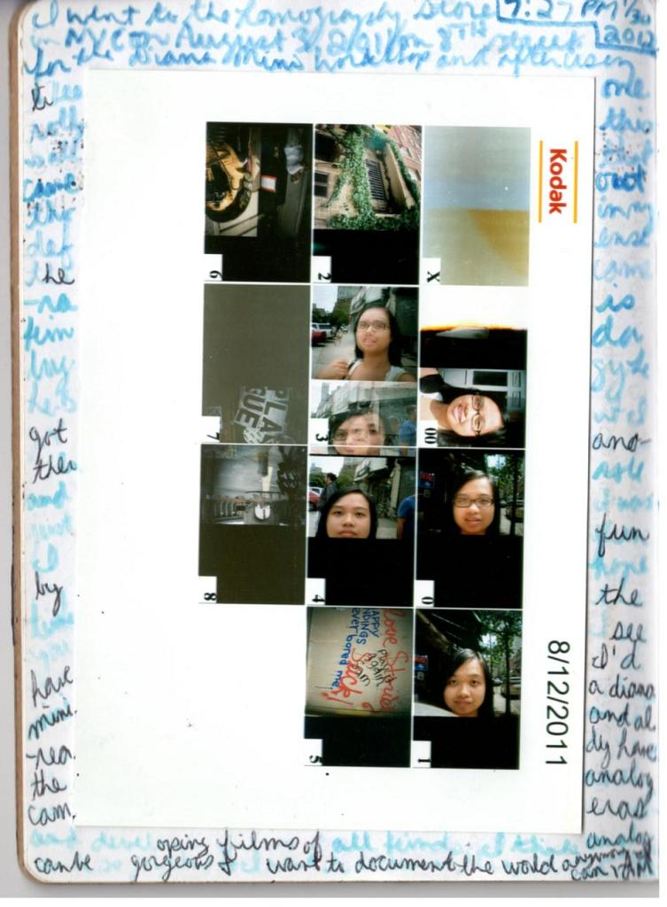 Diana mini 35mm film sheet. It was a free workshop in NYC and I got this and another roll. HOT DOG.